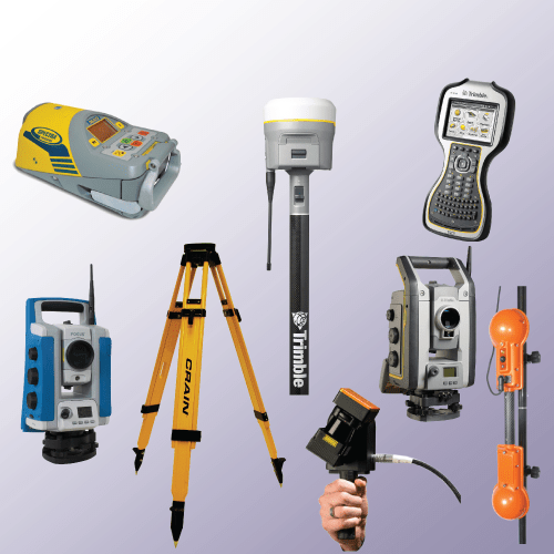 Rental equipment, Lasers, Total Stations, Spar 300, Pipe Laser, Tripods