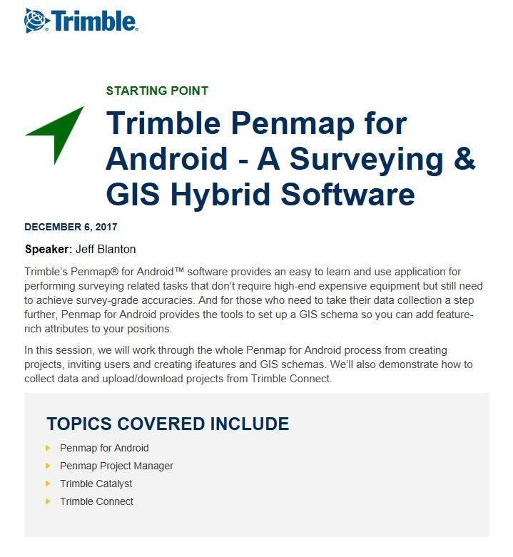 Trimble Penmap for Android – Webinar | | Seiler-Geospatial Division